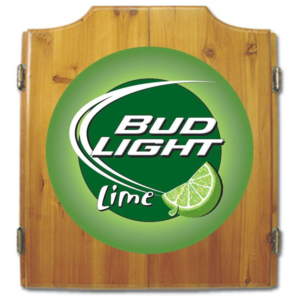 Trademark Wood Finish Dart Cabinet Set - Bud Light Lime