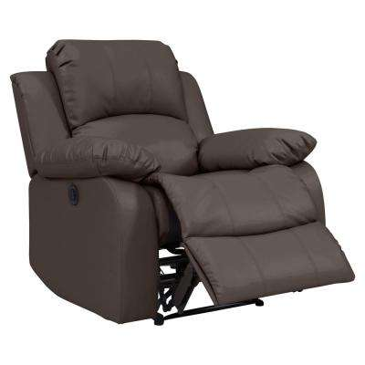 Coffee Brown Renu Leather Electric Wall Hugger Recliner