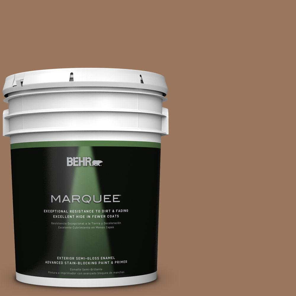 BEHR MARQUEE 5-gal. #S220-6 Baked Sienna Semi-Gloss Enamel Exterior Paint