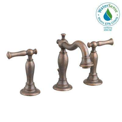 Quentin 8 in. Widespread 2-Handle Mid Arc Bathroom Faucet in Oil Rubbed Bronze