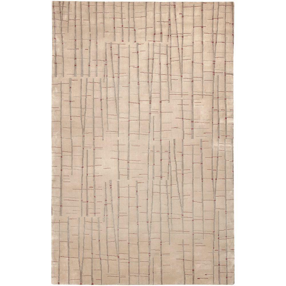 Julie Cohn Tan 2 ft. x 3 ft. Area Rug