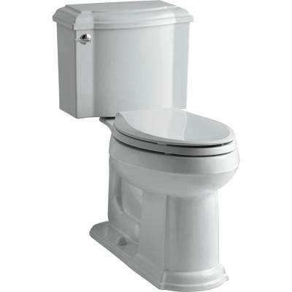 Devonshire 2-piece 1.28 GPF Single Flush Elongated Toilet with AquaPiston Flush Technology in Ice Grey