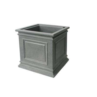 16 in. H x 16.3 in. W Taupestone Covington Polyethylene Plastic Self-Watering Planter