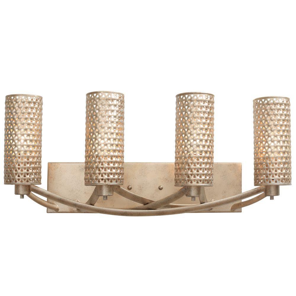 Casablanca 4-Light Zen Gold Vanity Light