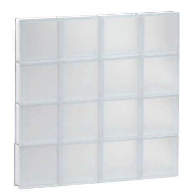 31 in. x 31 in. x 3.125 in. Frameless Frosted Non-Vented Glass Block Window