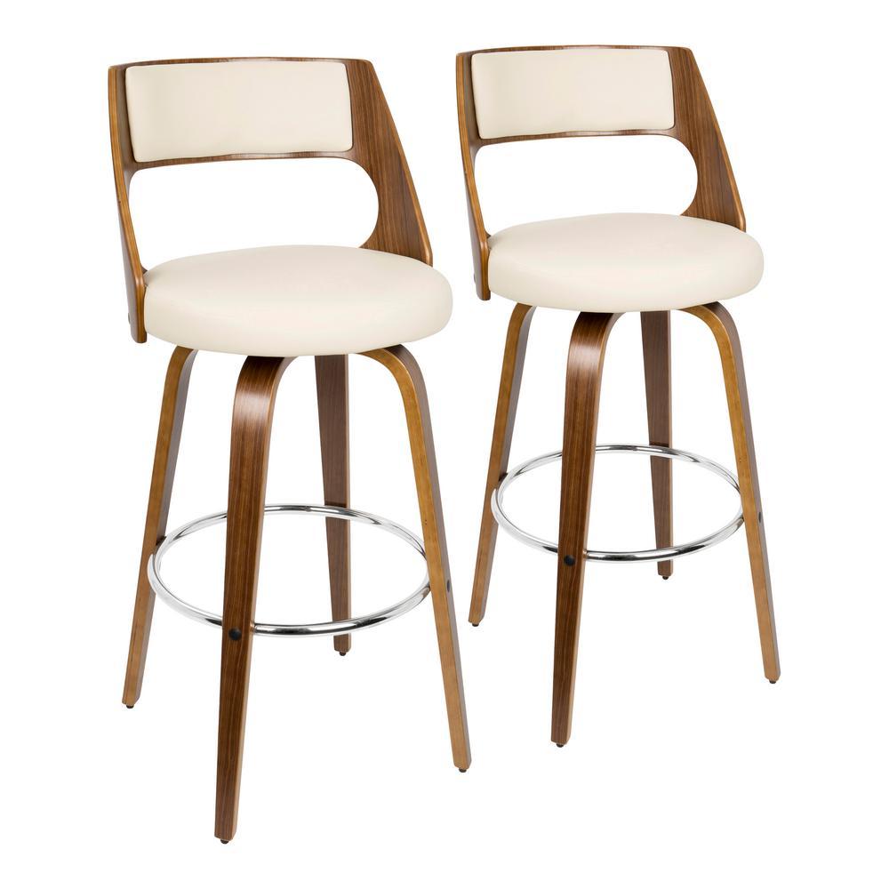 Phenomenal Cream Leather Bar Stools Creativecarmelina Interior Chair Design Creativecarmelinacom