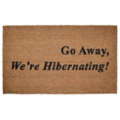 PVC Backed, Hibernating, 30 in. x 18 in. Natural Coconut Husk Coir Door Mat