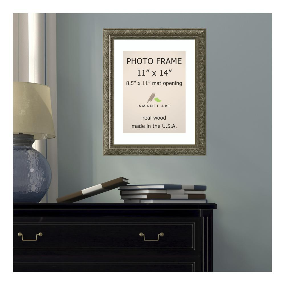 Amanti Art Barcelona 8.5 in. x 11 in. White Matted Gold Champagne ...