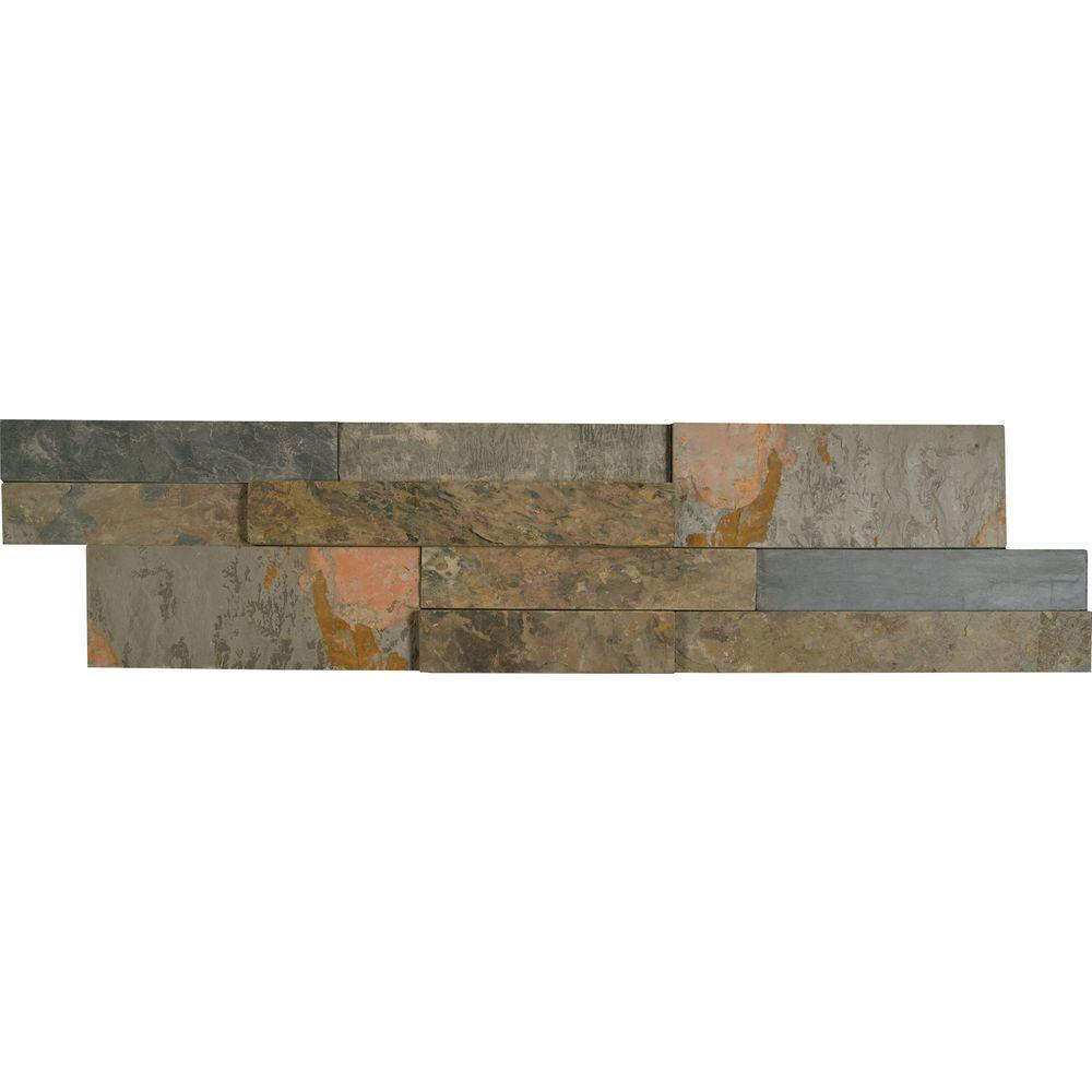 Msi Rustic Gold Ledger Panel 6 In X 24 Natural Slate Wall Tile