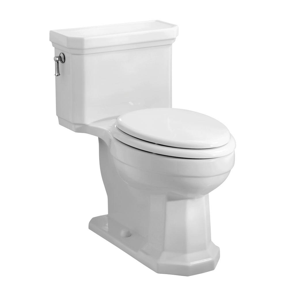 KOHLER Kathryn Comfort Height 1-Piece 1.6 GPF Elongated Toilet in White-DISCONTINUED