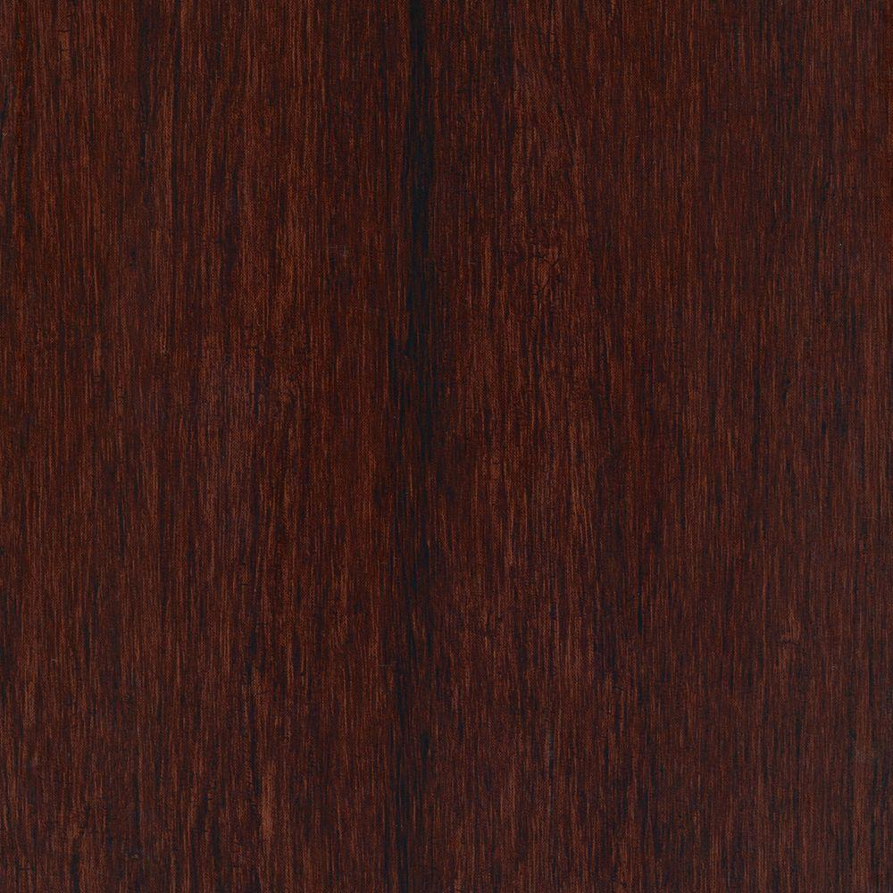 Home Legend Take Home Sample - Hand Scraped Strand Woven Bamboo Cherry Sangria Vinyl Plank Flooring - 5 in. x 7 in.