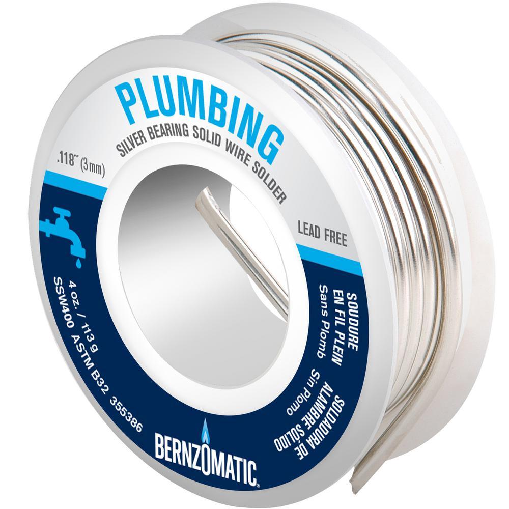 Bernzomatic 4 oz. Silver Solder Wire Solder