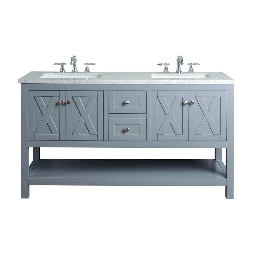 Joya Yellow Double Sink Vanity
