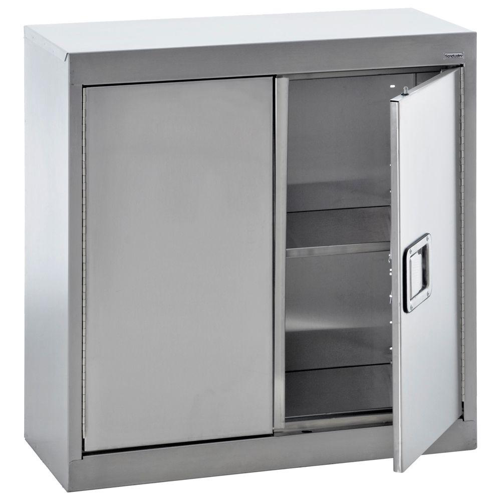 d stainless steel wall storage the home depot