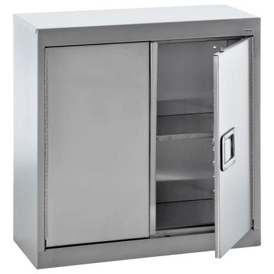 30 in. H x 30 in. W x 12 in. D Stainless Steel Wall Mounted Cabinet Storage