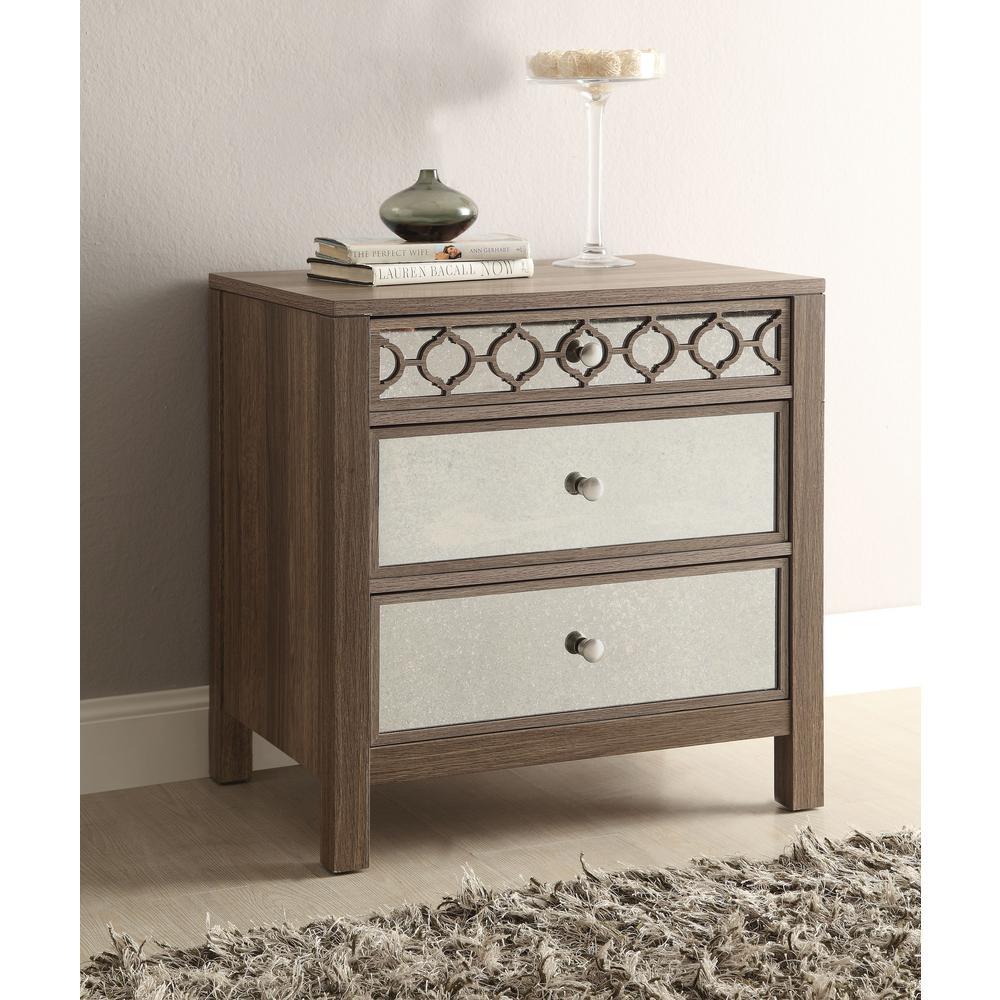 Helena Greco Oak 3-Drawer Cabinet