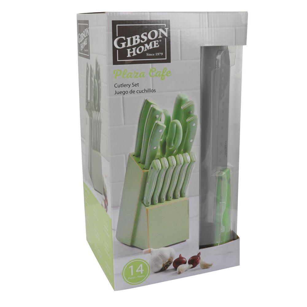 Plaza Cafe 14-Piece Mint Cutlery Set