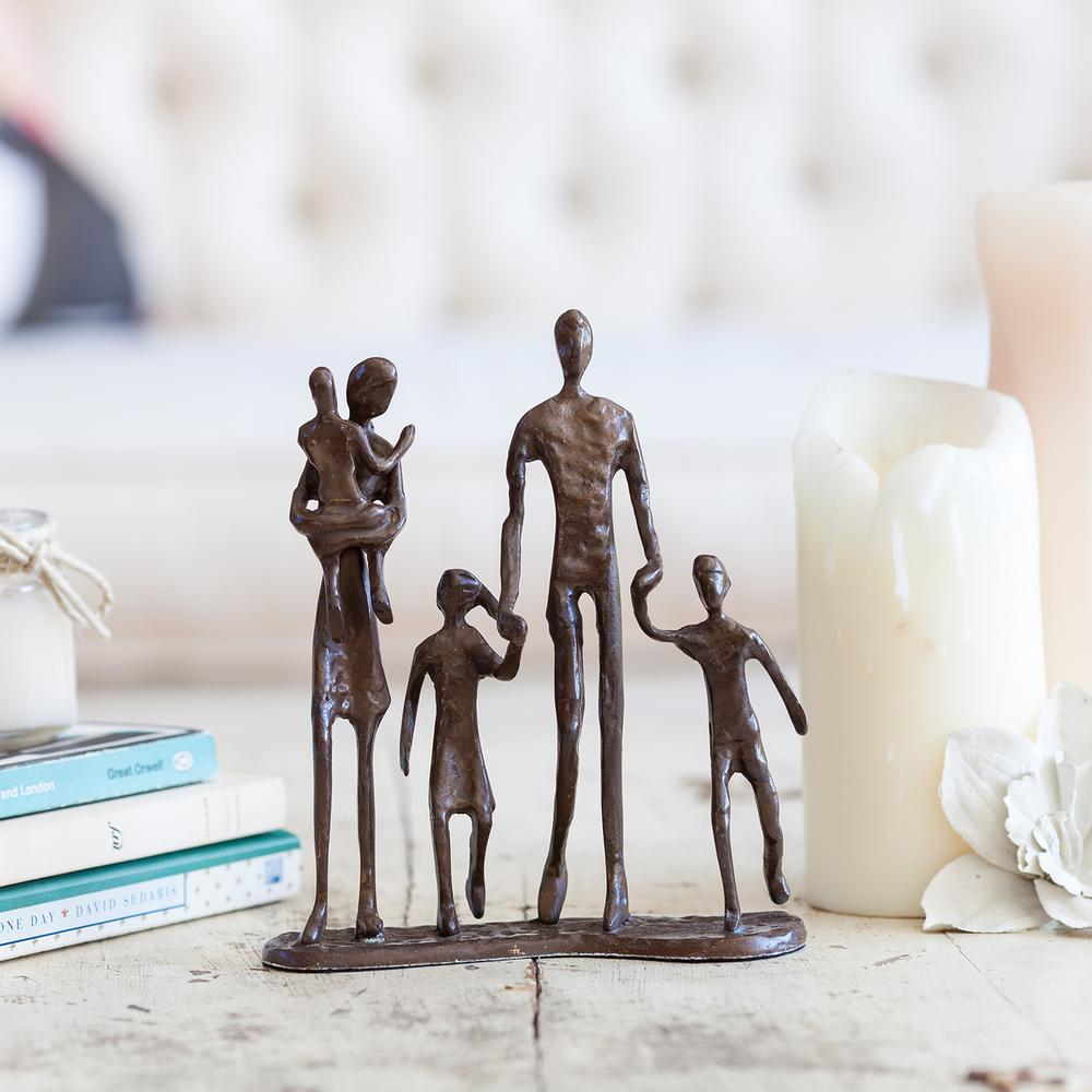 Family of 5 Bronze Sculpture
