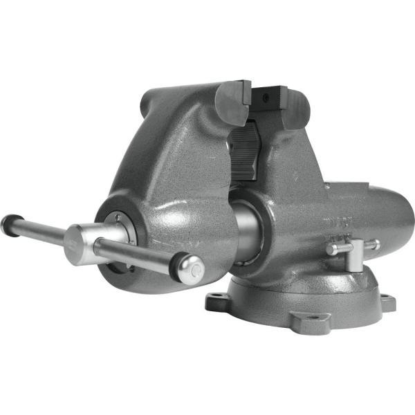 Combination Pipe And Bench 6 in. Jaw Round Channel Vise with Swivel Base