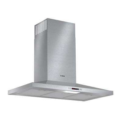 300 Series 36 in. Pyramid Style Canopy Range Hood with Lights in Stainless Steel, Energy Star