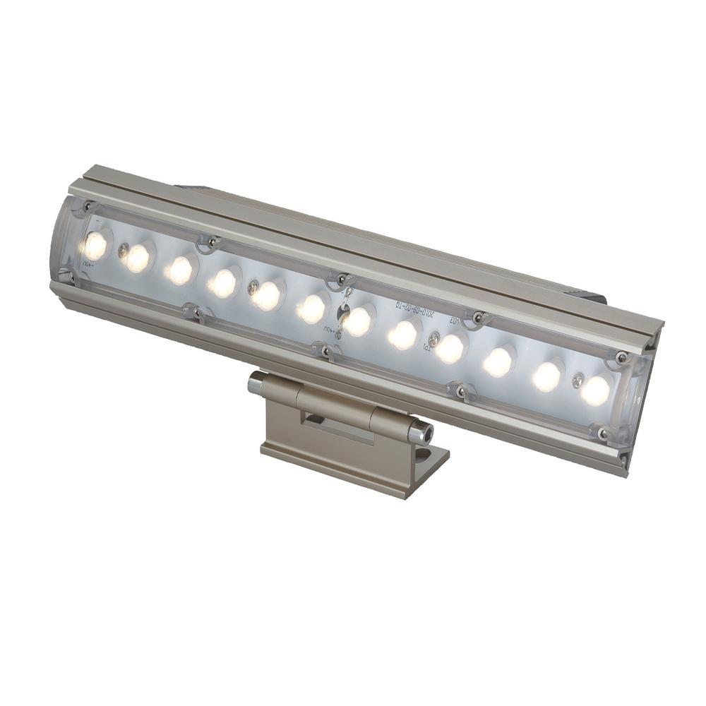 12-Watt Platinum Outdoor Integrated LED Landscape Flood Light