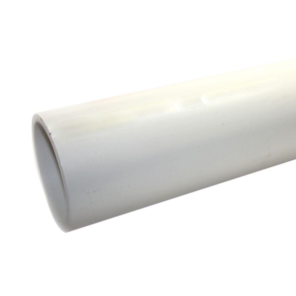JM eagle 4 in  x 10 ft  Foamcore PVC Schedule 40 DWV Plain-End Pipe