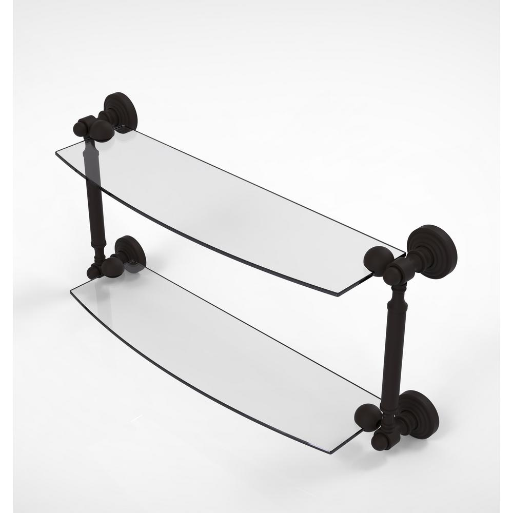 Allied Brass Waverly Place Collection 18 in. 2-Tiered Glass Shelf in ...