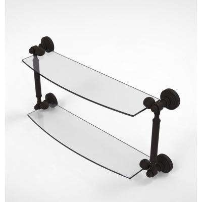 Waverly Place Collection 18 in. 2-Tiered Glass Shelf in Oil Rubbed Bronze