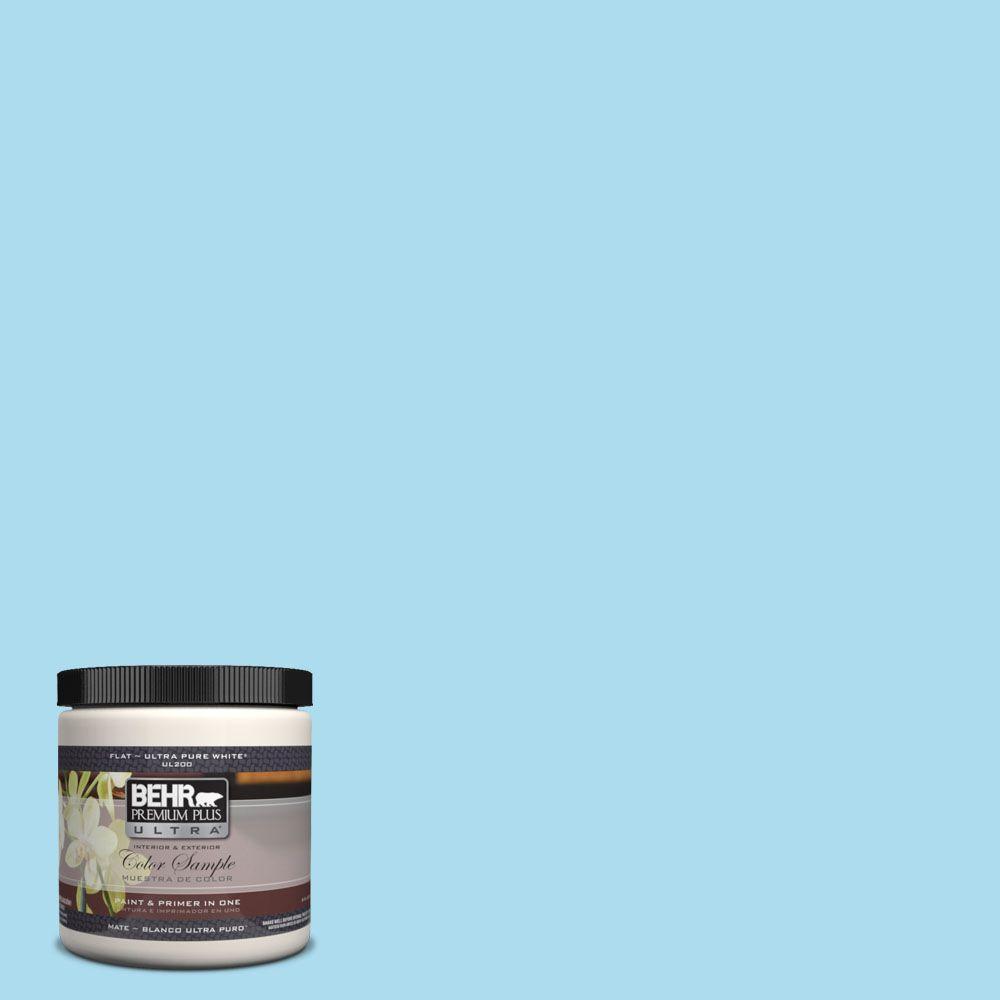 BEHR Premium Plus Ultra 8 oz. #530A-3 Frosty Glade Interior/Exterior Paint Sample