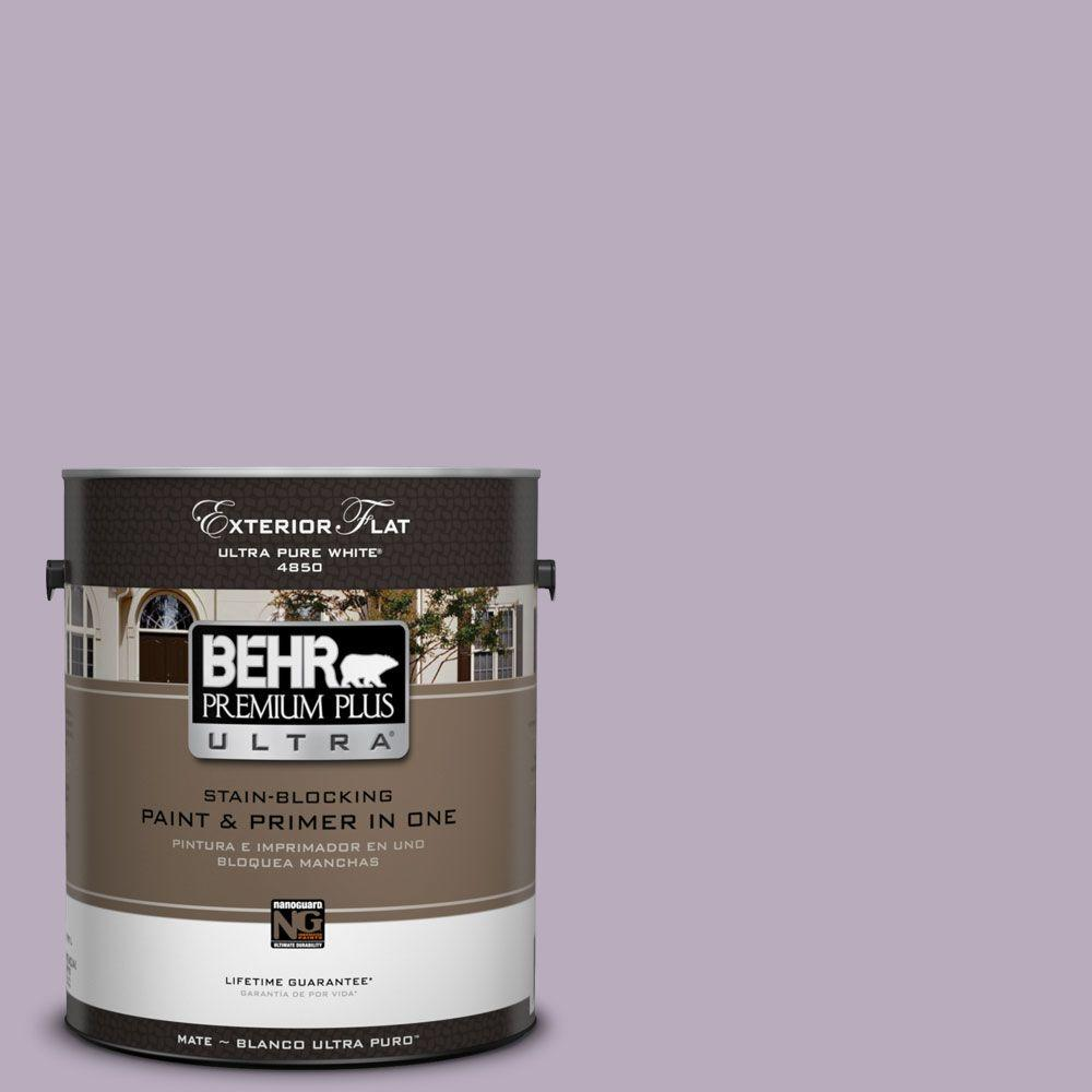 1-gal. #HDC-SP14-12 Exclusive Violet Flat Exterior Paint