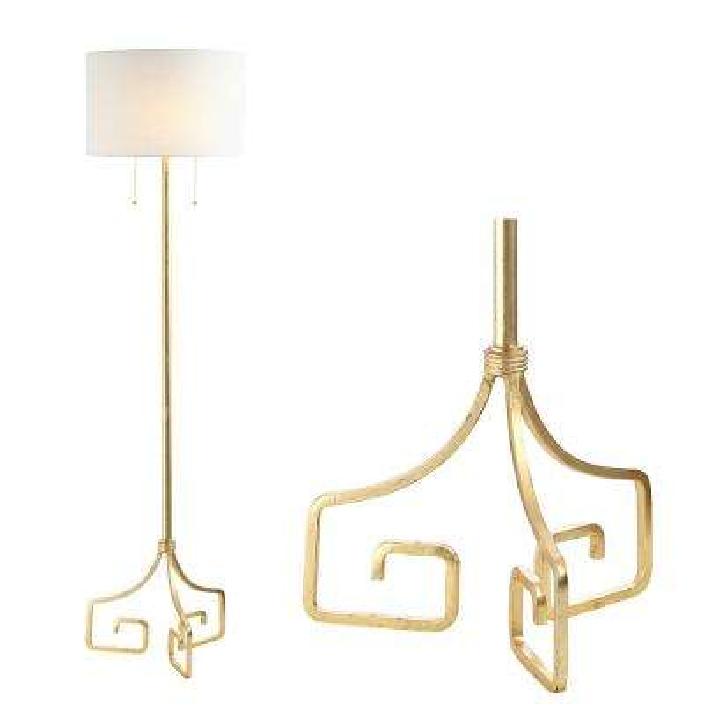 Newman 61.5 in. Gold Metal LED Floor Lamp