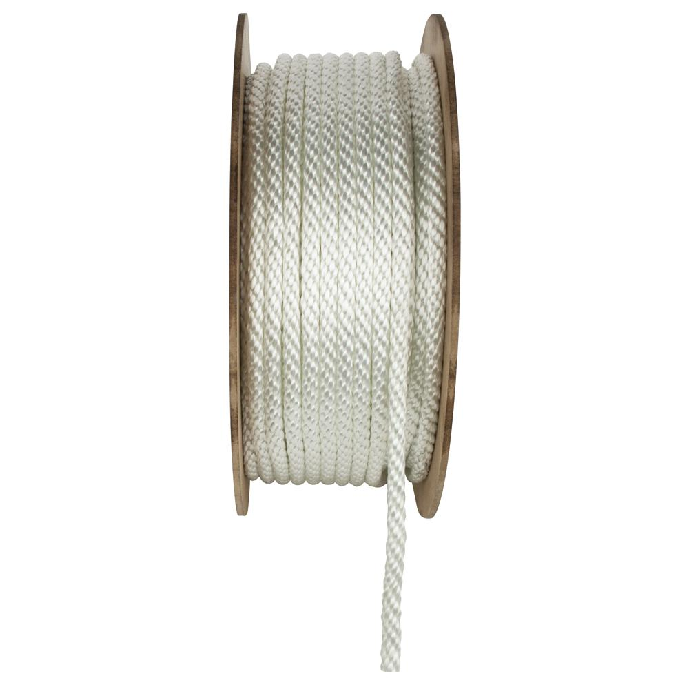 1/2 in. x 300 ft. White Solid Braid Nylon Rope