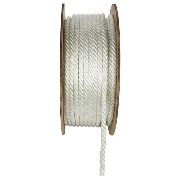 1/2 in. x 300 ft. Solid Braid Nylon Rope, White