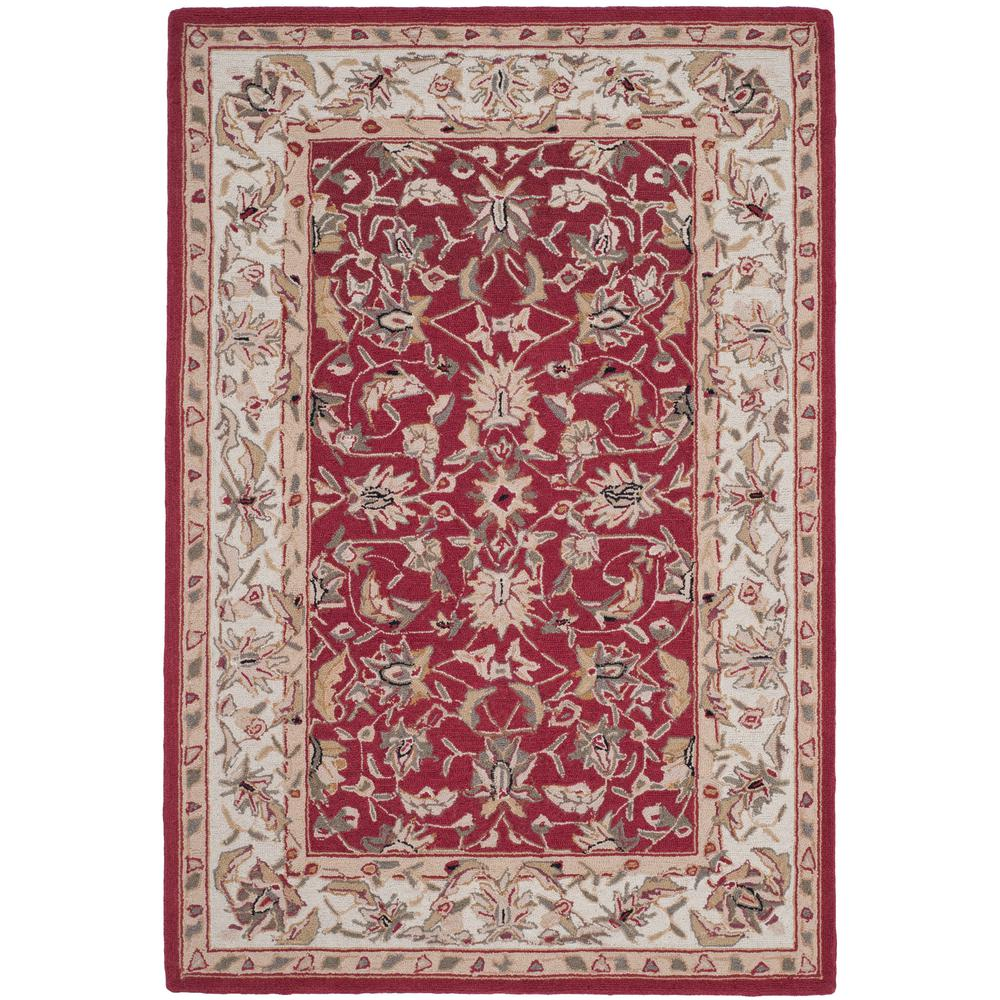 Safavieh Chelsea Burgundy/Ivory 3 Ft. 9 In. X 5 Ft. 9 In