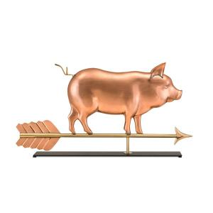 Good Directions Country Pig Pure Copper Weathervane Sculpture on Mantel Stand: Home Decor by Good Directions