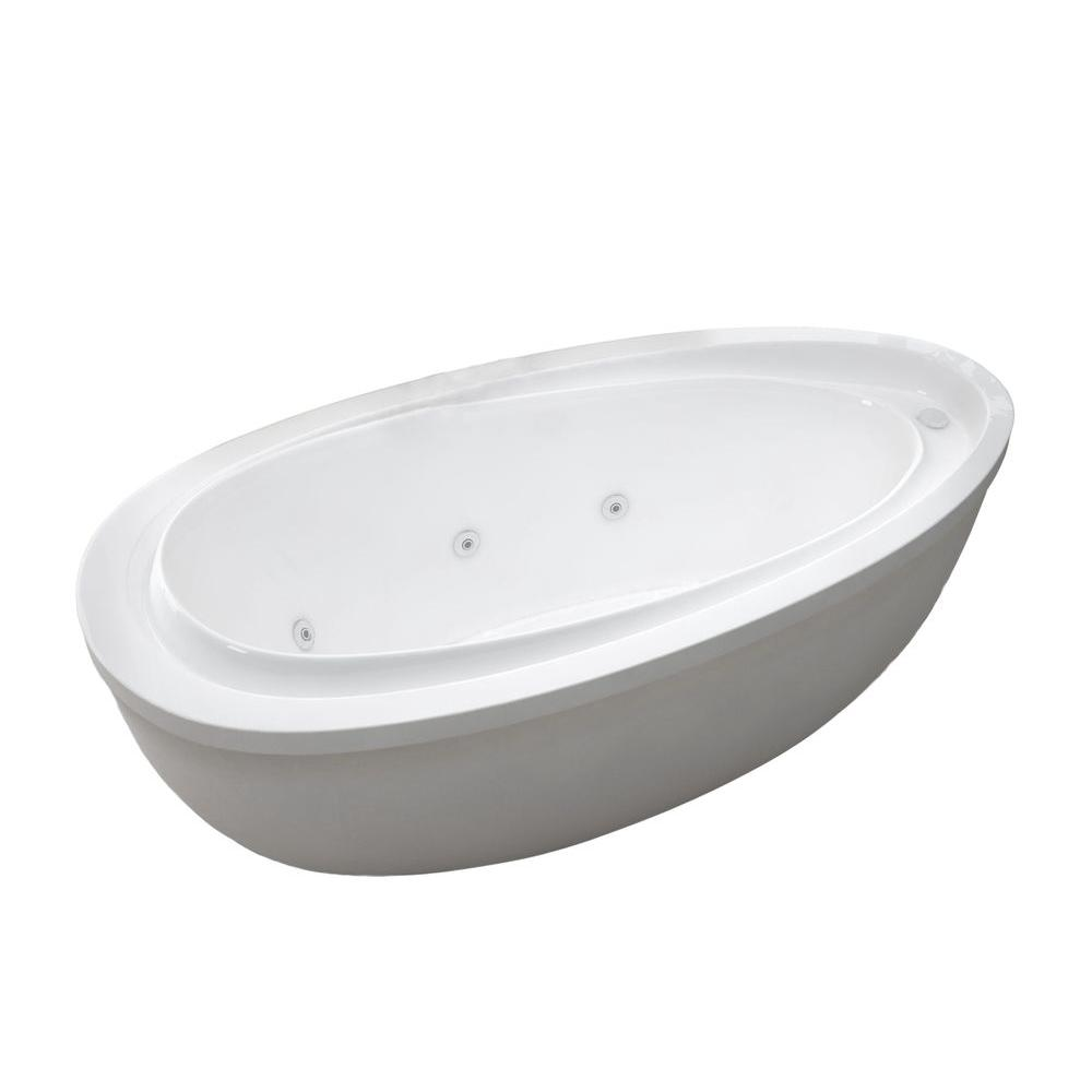 Mystic 5.9 ft. Acrylic Jetted Flatbottom Whirlpool Bathtub with Reversible Drain