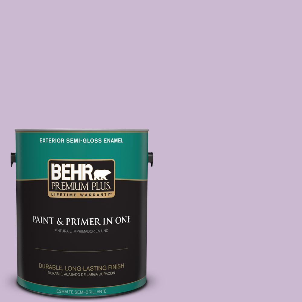 1-gal. #660C-3 Sweet Petal Semi-Gloss Enamel Exterior Paint
