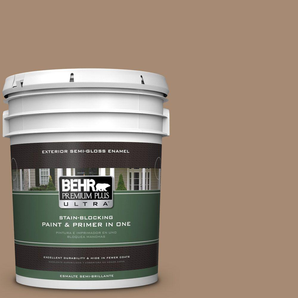 BEHR Premium Plus Ultra 5-gal. #N260-5 Distant Land Semi-Gloss Enamel Exterior Paint