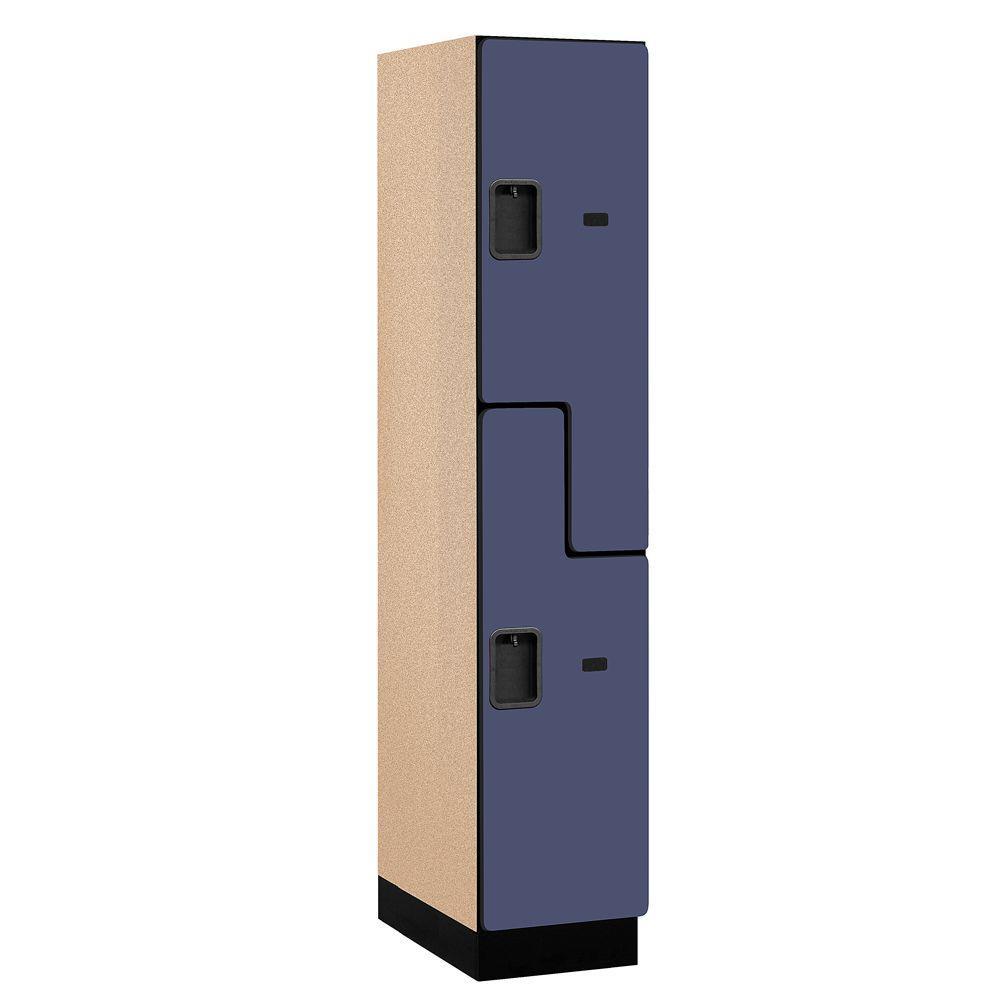27000 Series 2-Tier 'S-Style' Wood Extra Wide Designer Locker in Blue