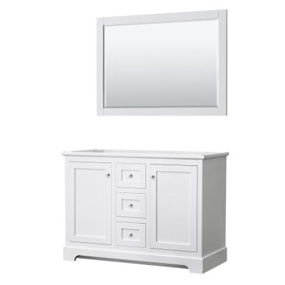 Avery 47.25 in. W x 21.75 in. D Vanity Cabinet Only with Mirror in White