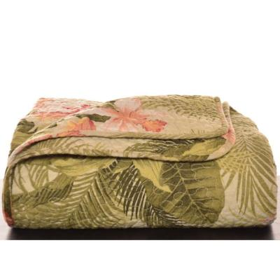 "Tropical Orchid Cotton 70 in. L"" X 50in. W"" Throw"