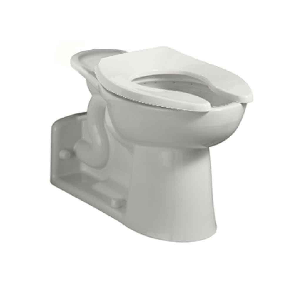 American Standard Priolo FloWise Chair Height Back Spud 11 16 GPF Elongated Toilet Bowl Only In White 3697001020