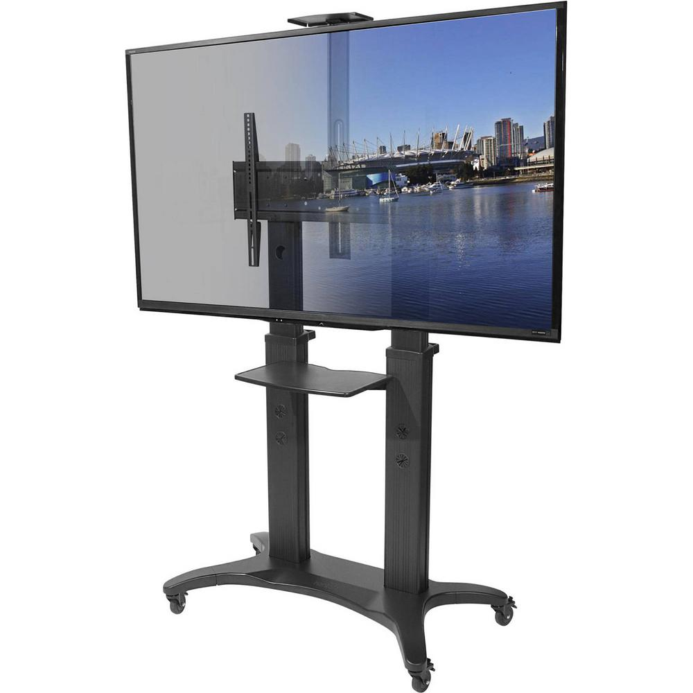 Kanto Mobile TV Mount with Adjustable Shelf for 55-inch t...