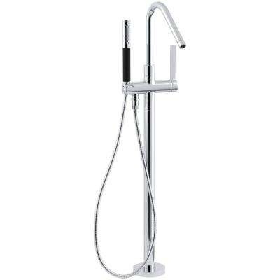 Stillness 1-Handle Freestanding Tub Faucet with Handshower in Polished Chrome