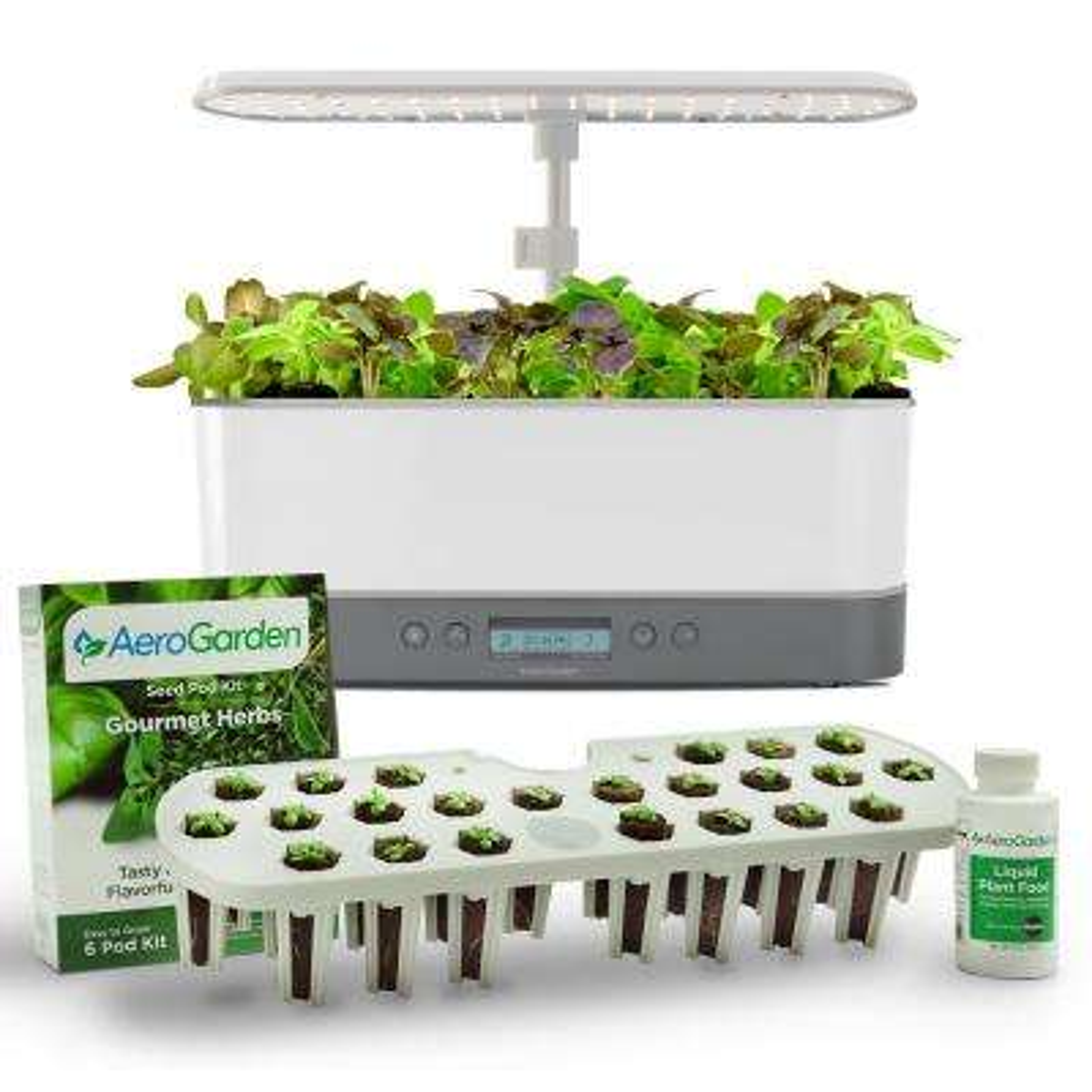 Harvest Elite Slim White with Seed Starting System Bundle