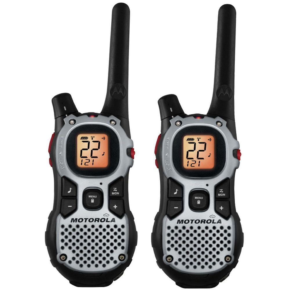 Motorola Talkabout 27-Mile 22 Channel Rechargeable 2-Way Radio - Silver-DISCONTINUED