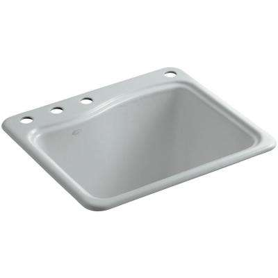 River Falls 22 in. x 25 in. Cast Iron Utility Sink in Ice Grey