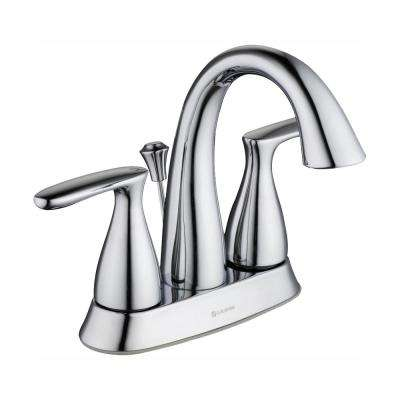 Meansville 4 in. Centerset 2-Handle High-Arc Bathroom Faucet in Chrome
