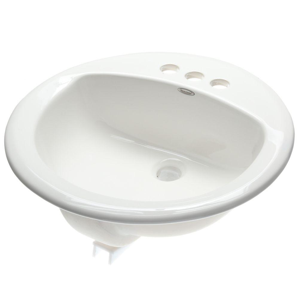 American Standard Rondalyn Self-Rimming Bathroom Sink in White ...