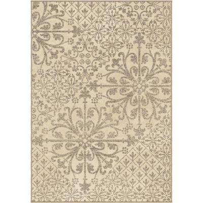 Messina Cream 5 ft. 3 in. x 7 ft. 6 in. Indoor Area Rug
